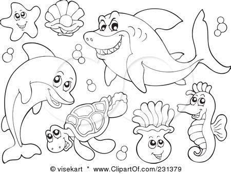 ocean animal clip art classroom themes animal coloring