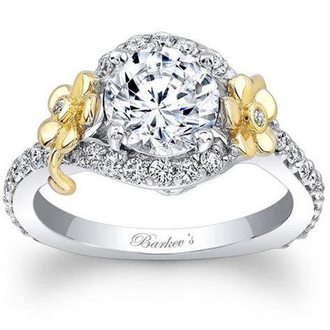 Barkev's 14K White & Yellow Gold Flower Halo Diamond