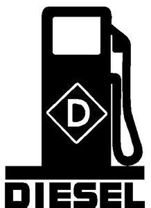DIESEL Fuel Pump LOGO * Vinyl Decal Sticker * Fumes Truck