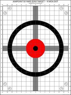 M4 Zeroing Target Printable   Be Tactical   Pinterest   Target