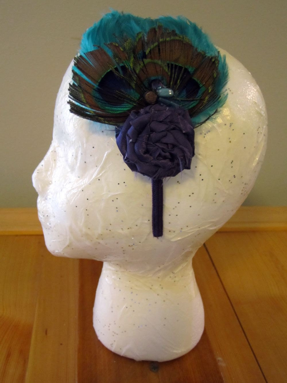 Mrs. Peacock - Feather Headband
