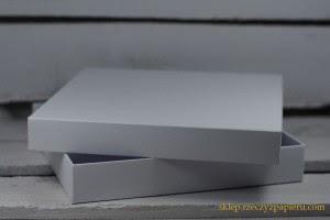 Pudełko na kartkę pełne, białe - 15x15x2,5cm