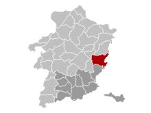 Vị trí của Maasmechelen in Limburg