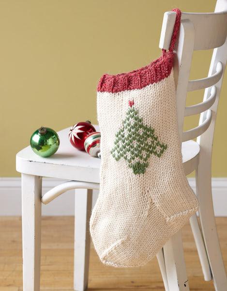 Festive Tree Stocking Pattern (Knit)
