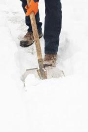 Shovel snow on the walkways