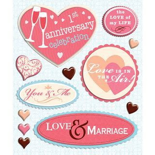 Scrapbook Bazaar: NEW   Wedding Anniversary Stickers