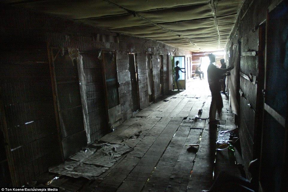 The series of photographs were taken in the Badia slum in Lagos, Nigeria