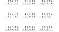 Colección de rectas (1000 fichas) de dos números de 5 cifras sin llevada.  EJEMPLO DE LA ACTIVIDAD DESCARGATE LAS COLECCIONES EN PDF  coleccion restas 5 cifras sin llevada 1-100...