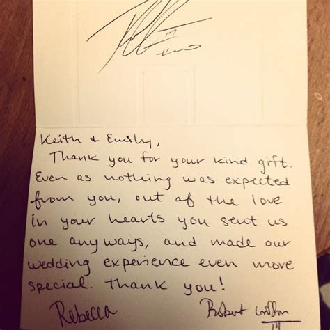 RGIII sent fan a wedding gift thank you note   fox13now.com