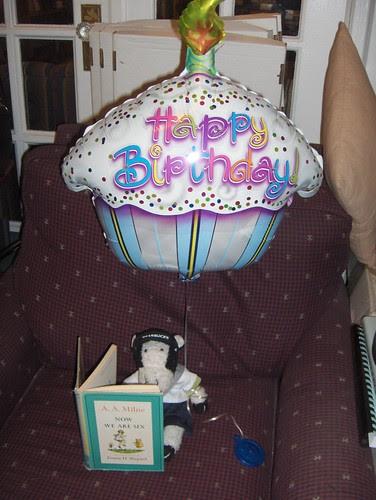 I also got a birthday balloon.
