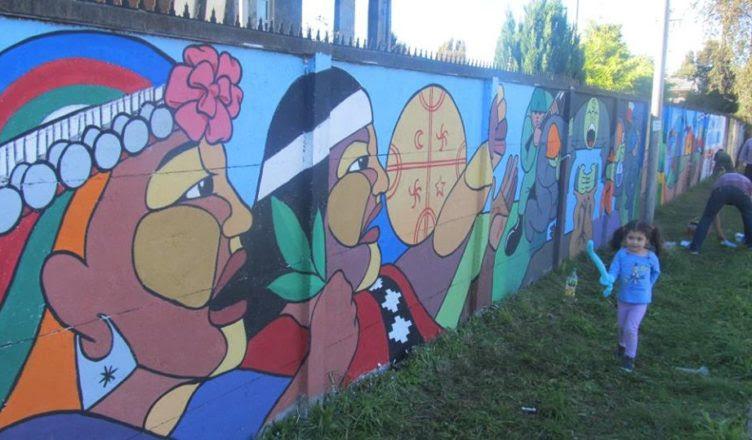 Chile Ngulumapu Murales Participativos Van Dibujando Caminos