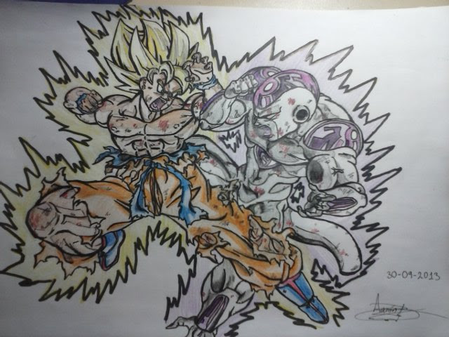 Mi Nuevo Dibujo De Dragon Ball Z Otaku Zone 3djuegos