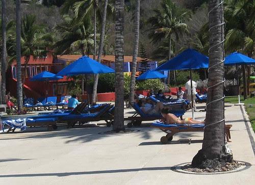 Relaxing at Careyes pool