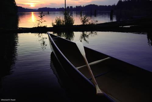 Westwood Lake at Sunset