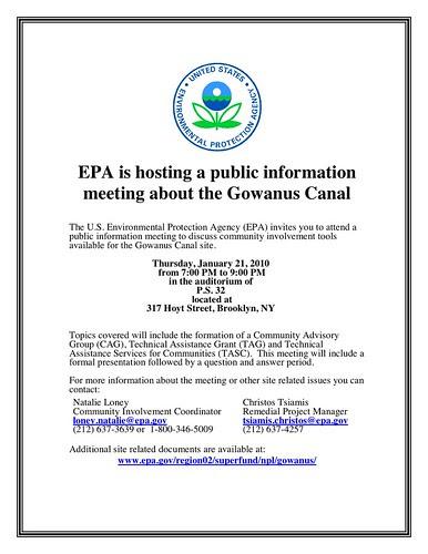 Public Information Meeting Jan 2010 flyer