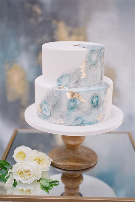 Watercolor Wedding Cakes Might Be the Next Big Wedding