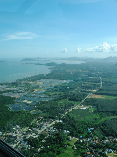 East coast of Phuket from the air