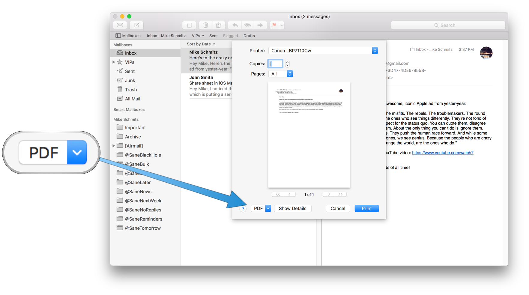 How To Save Email Messages As Pdfs On Ios And Macos The