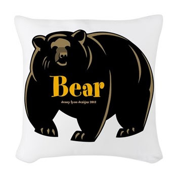 Bear Name Woven Throw Pillow