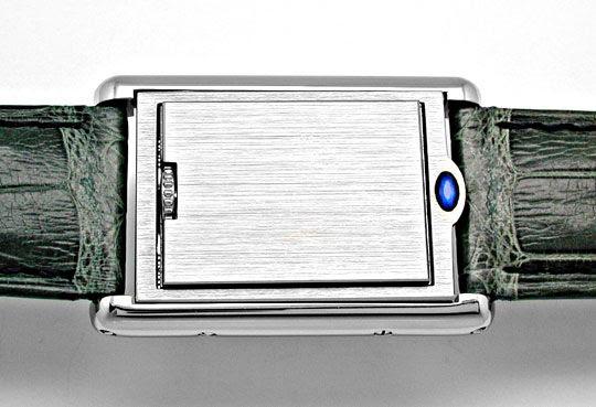 Foto 4, Cartier Tank Basculante Medium Stahl Topuhr Ungetragen!, U1906