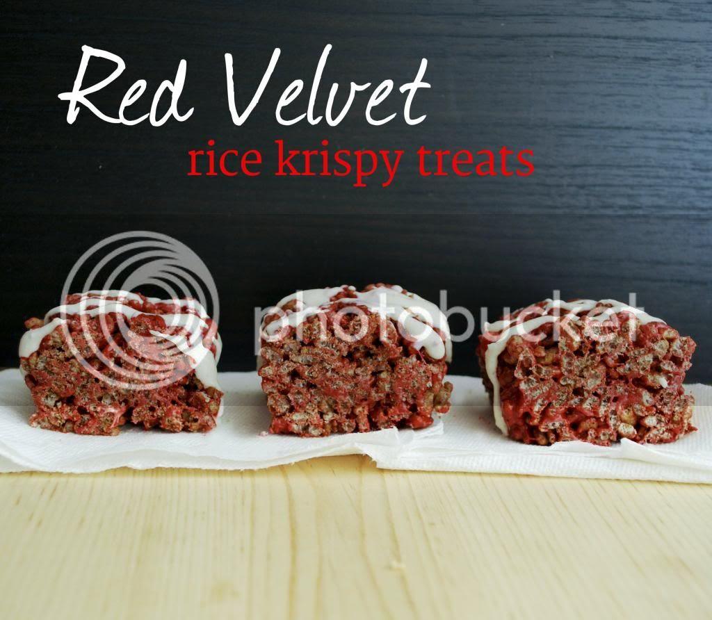 Red Velvet Rice Krispy Treats