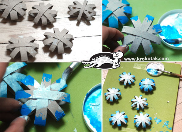 Snow flakes for colouring