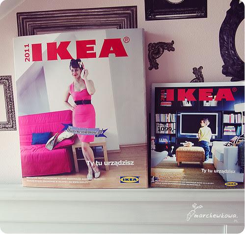 J. na Leśno-Marchewkowej, szafiarka, IKEA, 2011, tegoroczny katalog, XXL, spersonalizowana okładka, obwoluta, Ty tu urządzisz