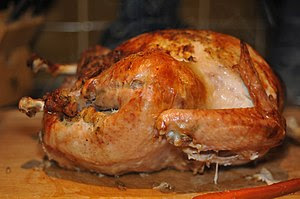 Oven roasted turkey, common fare for ...