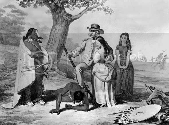 Daniel Boone rescuing his daughter