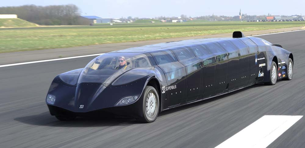 Former Dutch astronaut Wubbo Ockels and team test electric powered Superbus