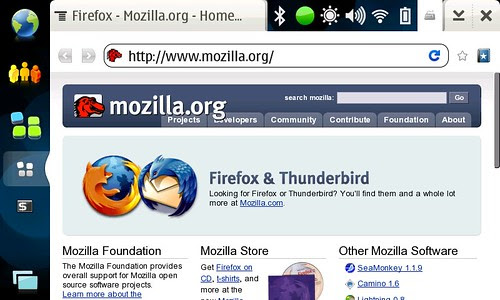 Fennec (Mobile Firefox) on N810