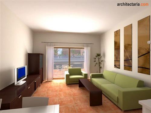 Dekorasi Ruang Keluarga dan Ruang Tamu Ukuran Kecil