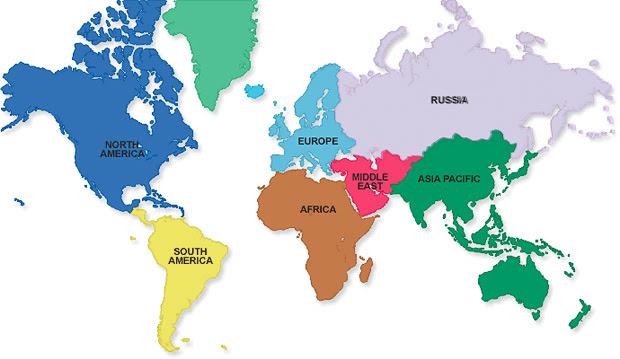 Kosong Peta Dunia Hitam Putih Doylc Asia