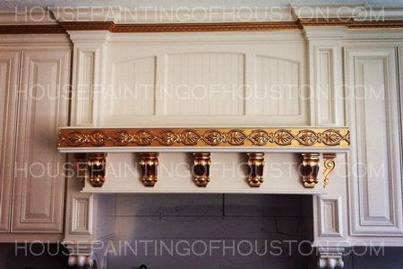 gold leaf trim kitchen cabinets   custom specialty ...