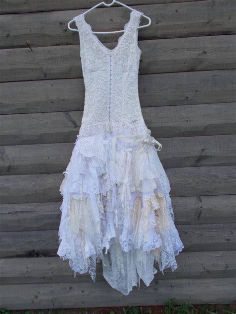 Wedding Dress, Rag Doll style skirt, Corset front top