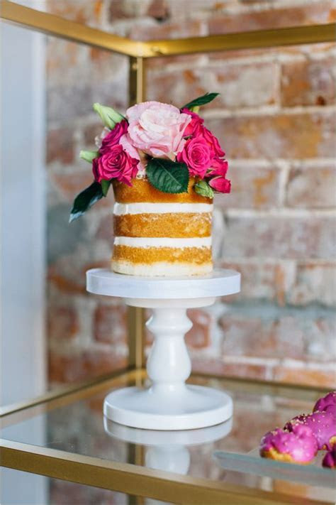 Top 16 Unique Single Tier Flower Wedding Cakes ? Cheap