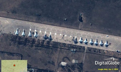 Russian fighter jets at Buturlinovka airbase