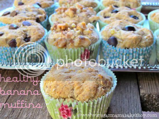 Sugar Mama Bakeshop: Healthy Banana Muffins
