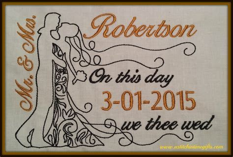 5x7 Wedding Template   A Stitch in Time Embroidery Designs