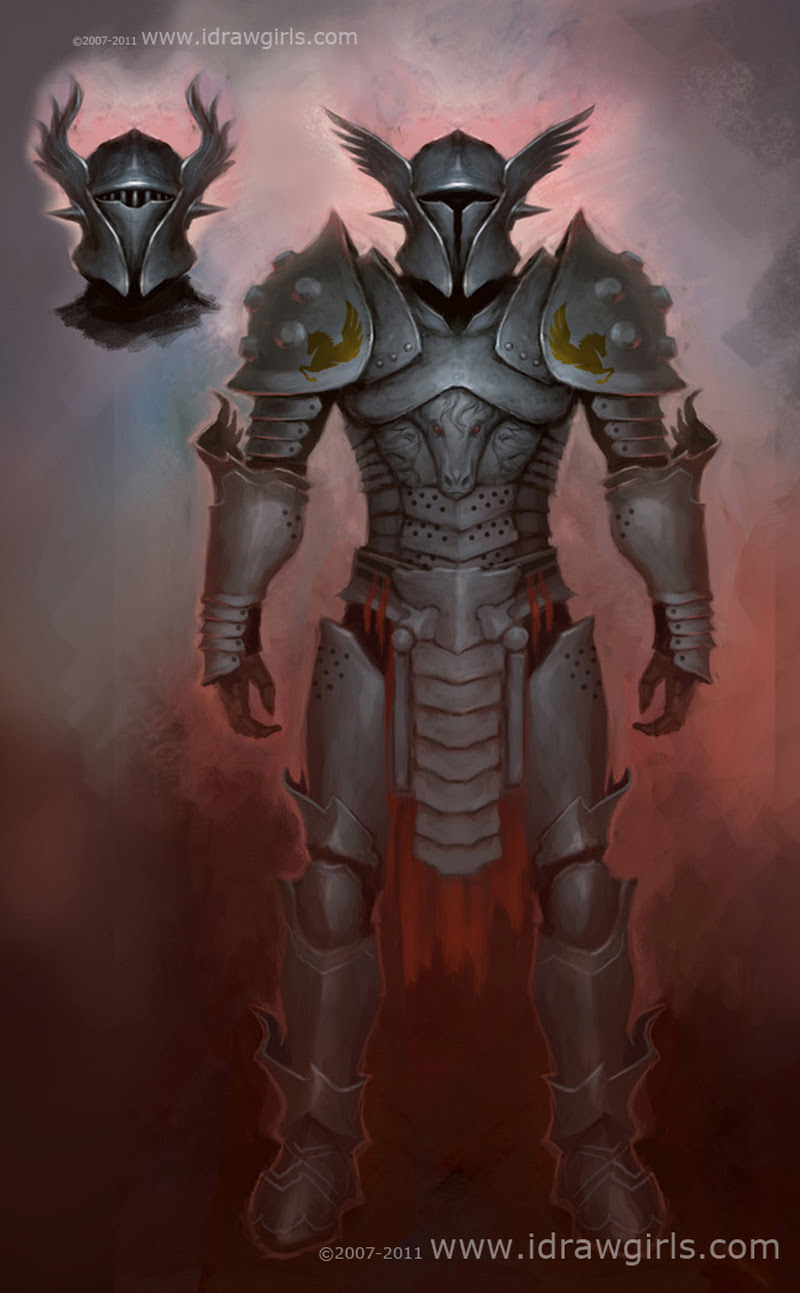GuildWars 2 concept art, knight