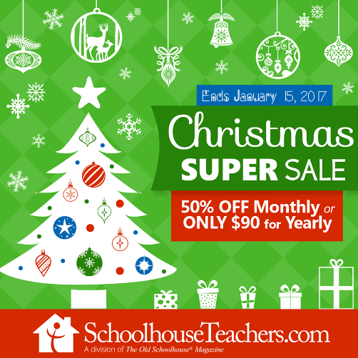 Schoolhouse Teachers Half Price Discount