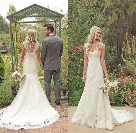 2015 Cheap Vintage Wedding Dresses Lace Backless