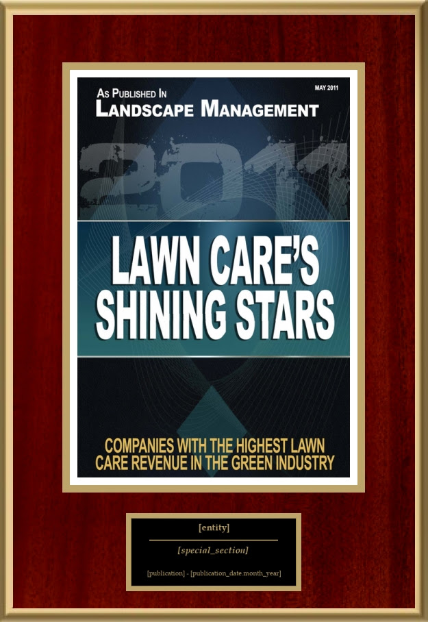 Lawn Cares Shining Stars American Registry Recognition Plaques