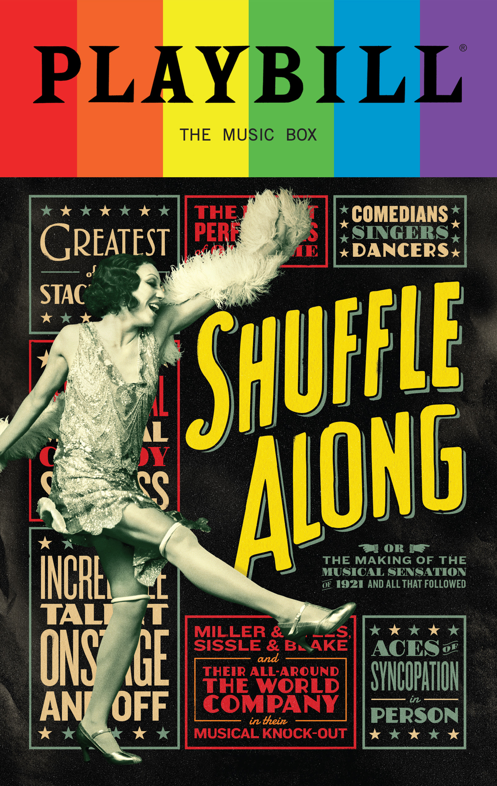 Shuffle Along - June 2016 Playbill with Rainbow Pride Logo - Opening Night and Special Event