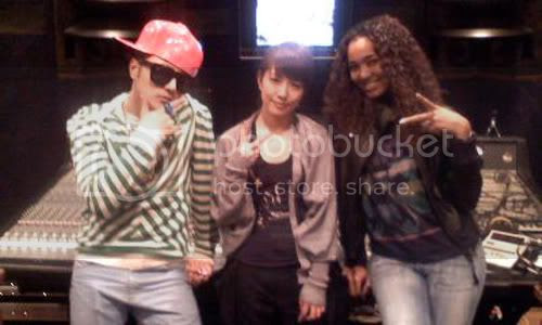 Verbal, BoA & Crystal Kay in the studio
