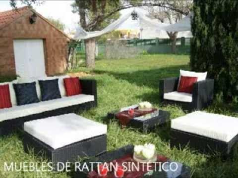 Adornos Jardín Muebles Terraza Rattan Sintetico
