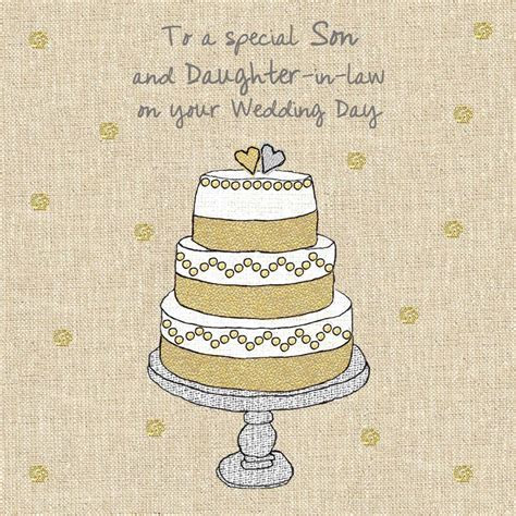 Son & Daughter In Law Wedding Cake Wedding Card   Karenza