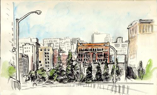 Worldwide SketchCrawl Day - Downtown Portland, OR