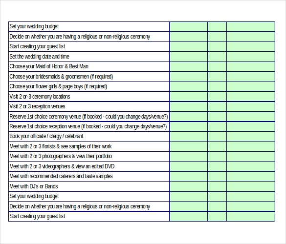 Christian Wedding Checklist India