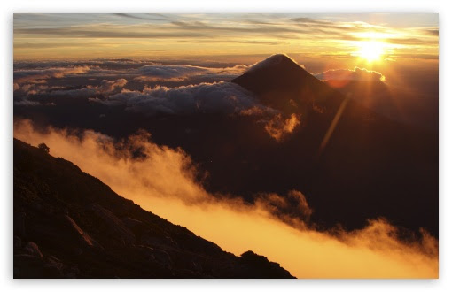 Sunrise Over Acatenango Volcano, Guatemala 4K HD Desktop Wallpaper for 4K Ultra HD TV • Wide